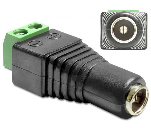 DELOCK Adapter DC 2.5 x 5.5 mm female > Terminal Block 2 pin (65485)