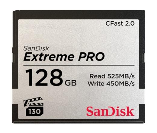 SANDISK CFAST 2.0 128GB EXTREME PRO 525MB/s