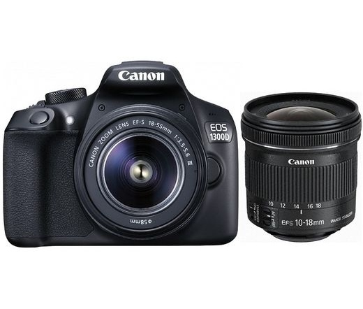 CANON EOS 1300D + EF-S 18-55mm DC III + 10-18mm IS STM kit