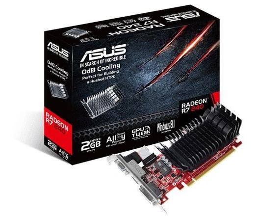 VGA ASUS R7 240-SL-2GD3-L Silent LP 2GB DDR3