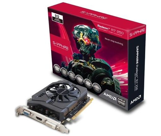 VGA SAPPHIRE PCIE R7 250 2GB DDR3