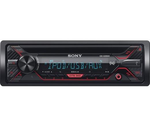 Sony CDX-G3200UV Autóhifi fejegység CD-lejátszós vevőkészülék USB-vel