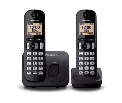 TEL Panasonic KX-TGC212PDB Duo Dect Telefon szürke