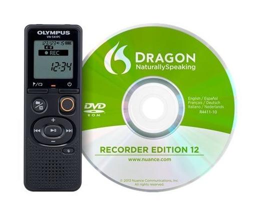 OLYMPUS VN-541PC Diktafon + DNS12 (angol) beszédfelismerő szoftver