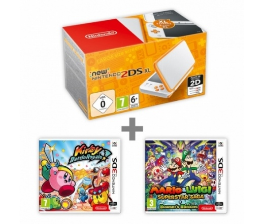 KON New N2DS XL White&Orange + KBR + M:Supersaga