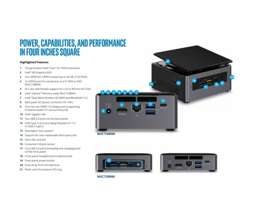 BBN Intel NUC BOXNUC7I3BNK
