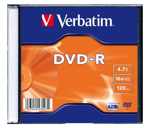 VERBATIM DVD-R 4,7GB 16X SLIM CASE*1  43547