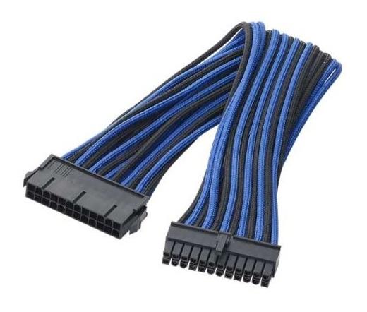 BITFENIX 24-pin ATX hosszabbító 30cm sleeved fek...