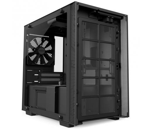 NZXT H200 Fekete (Táp nélküli) ablakos mini-ITX...