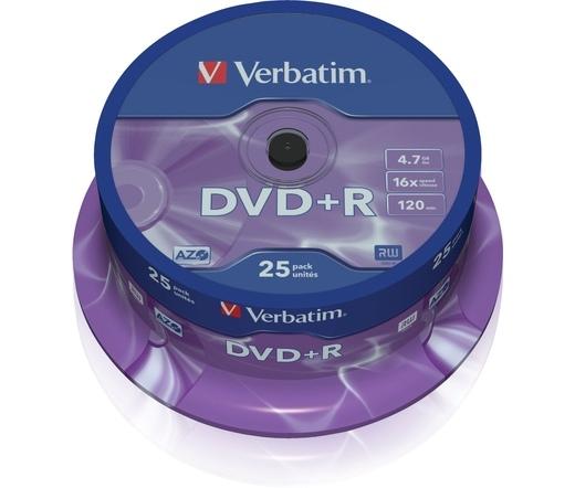 VERBATIM DVD+R 4,7GB 16X CAKE*25  43500