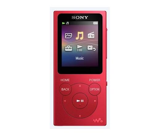 Sony NW-E393 (Piros) 4GB MP3 és multimédia lejátszó