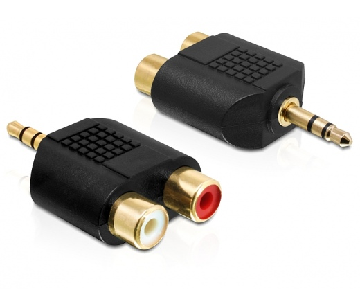 DELOCK Adapter Audio Stereo jack 3.5 mm 3 pin male > 2 x RCA female (65365)