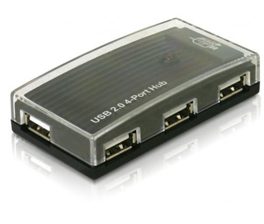 DELOCK USB 2.0 HUB 4 portos (61393)