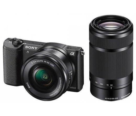 SONY Alpha 5100 + 16-50mm + 55-210mm Fekete