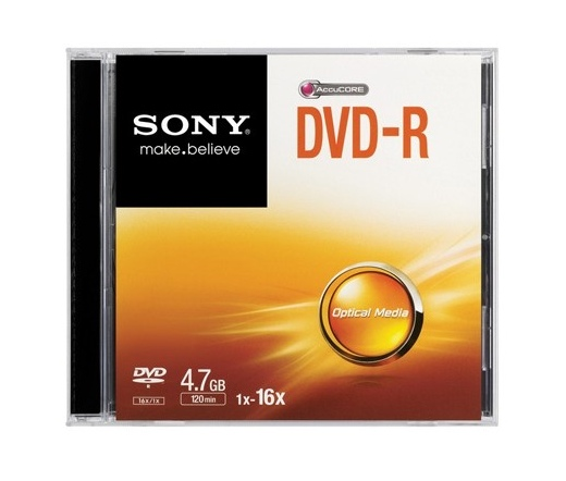 DVD-R LEMEZ SONY 4.7GB 16x Slim