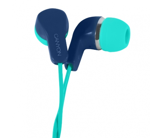 CANYON CNS-CEPM02GBL fülhallgató mikrofonnal kék+zöld