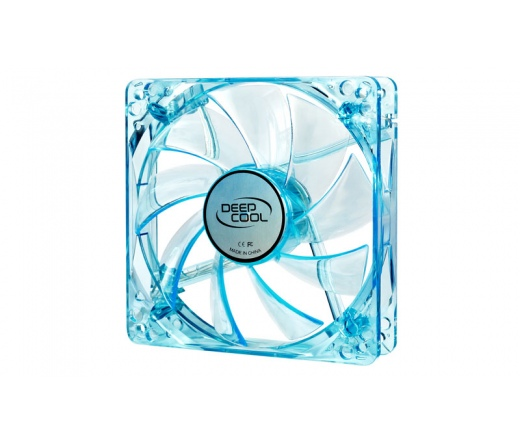 COOLER DeepCool XFAN 120U B/B 12cm UV, kék LED