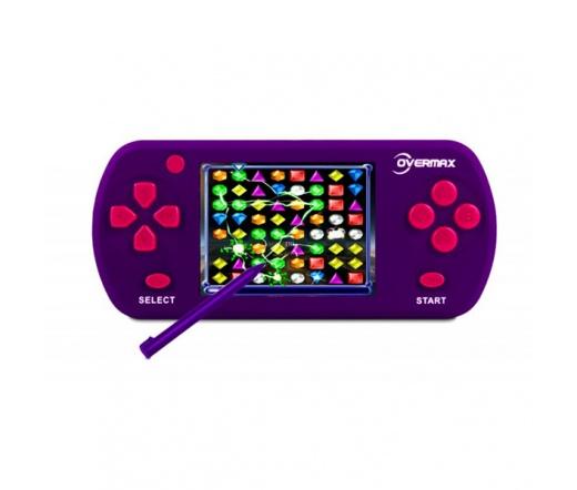 """OVERMAX TouchPlayer 2,7"""" Kézi Játékkonzol 111+21 Játékkal lila"""