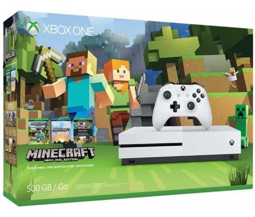 Microsoft Xbox One S 500GB + Minecraft Játék