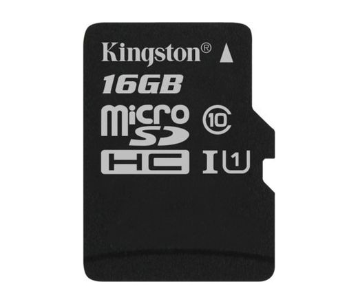 Card MICRO SD Kingston 16GB Canvas UHS-I CL10 adapter nélkül