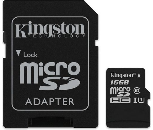 Card MICRO SD Kingston 16GB Canvas UHS-I CL10