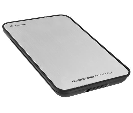 "MOBIL RACK SHARKOON QuickStore Portable 2,5"" SATA HDD - USB2.0 Ezüst"