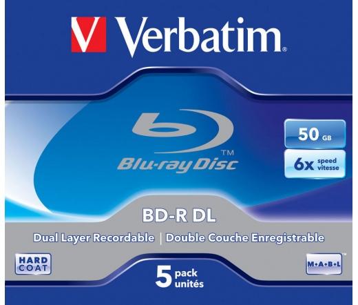VERBATIM BD-R DL BLU-RAY 50GB 6X normál tok