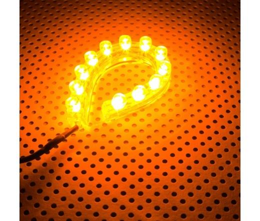 Lamptron FlexLight Standard - 12 LEDs - Narancs