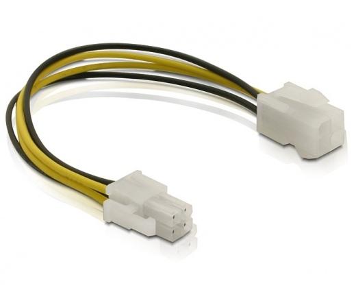 DELOCK Cable P4 male -> P4 female 15cm (82428)