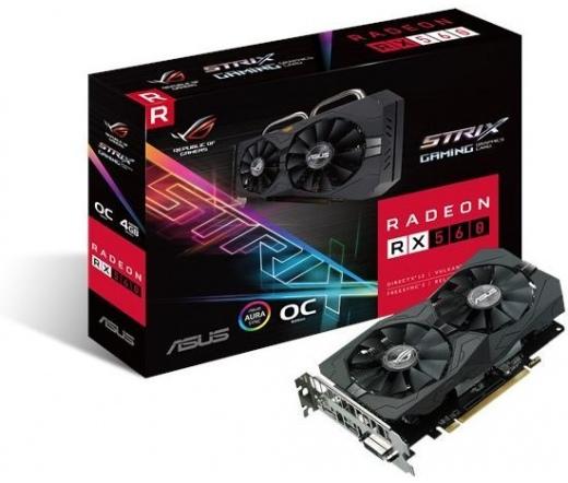 VGA Asus ROG-STRIX-RX560-O4G-GAMING 4GB DDR5