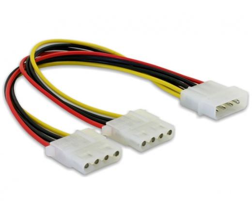 DELOCK Molex Y-Cable tápkábel -> 2x 4pin Molex (82100)
