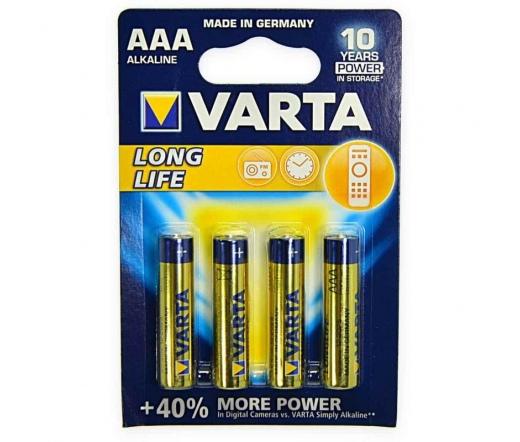 Varta Longlife 1.5V AAA alkáli elem 4db