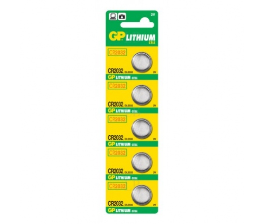 GP CR2032 Lítium gombelem 5 db/blister