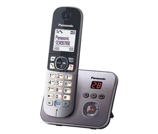 TEL Panasonic KX-TG6821PDM Dect Telefon ezüst