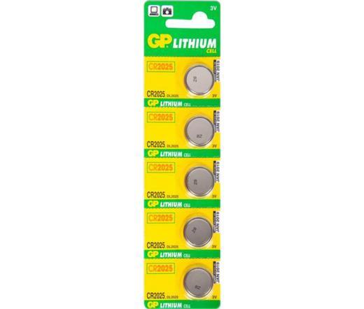 GP CR2025 Lítium gombelem 5 db/blister