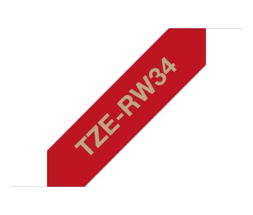 BROTHER P-touch TZe-RW34 laminált szalag (piros/arany)