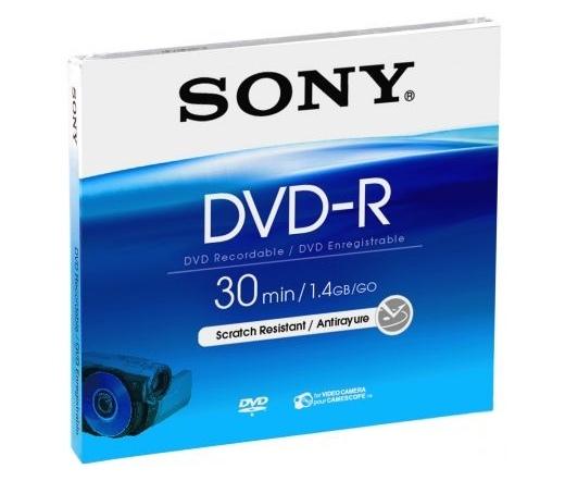 DVD LEMEZ SONY DVD-R 8cm DMR30A 30min 1,4GB