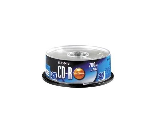 CD-R LEMEZ SONY 25PK 700MB 48X Henger