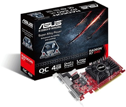 VGA ASUS R7 240-OC-4GD3-L 4GB DDR3
