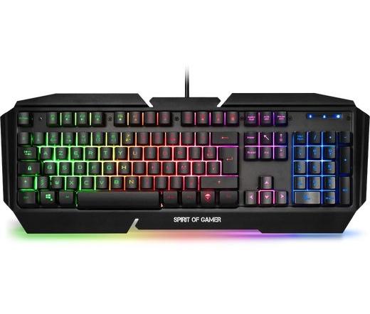 Spirit of Gamer PRO-K5 RGB LED USB fekete magyar