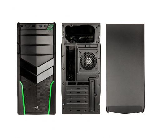 HÁZ AEROCOOL V2X Green Edition Midi-Tower fekete/zöld