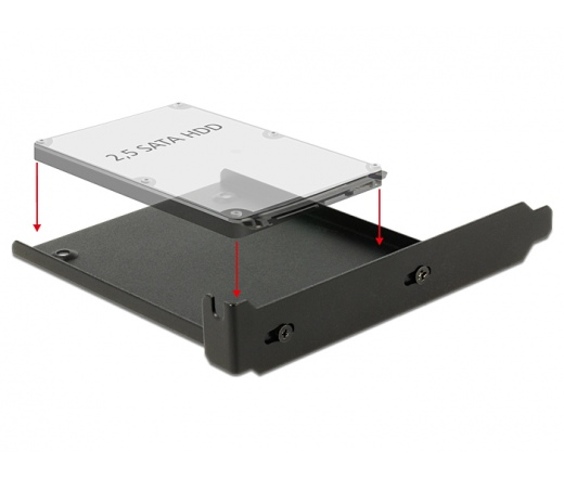 """DELOCK Installation frame for 1 x 2,5"""" HDD into the PC slot (18212)"""