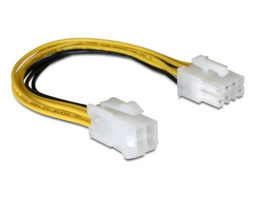 DELOCK Cable 8pin EPS male -> 4pin ATX/P4 female (82405)