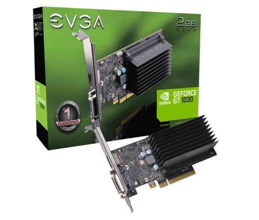 VGA EVGA GeForce GT 1030 2GB DDR4 PCI-E HDMI DVI-D PASSIVE LP