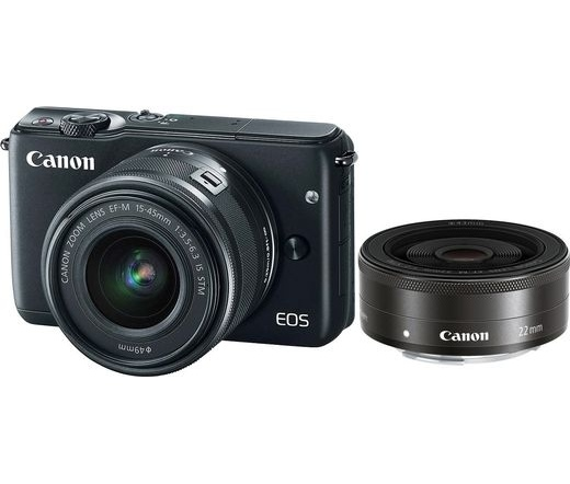 CANON EOS M100 + 15-45mm + 22mm Kit fekete