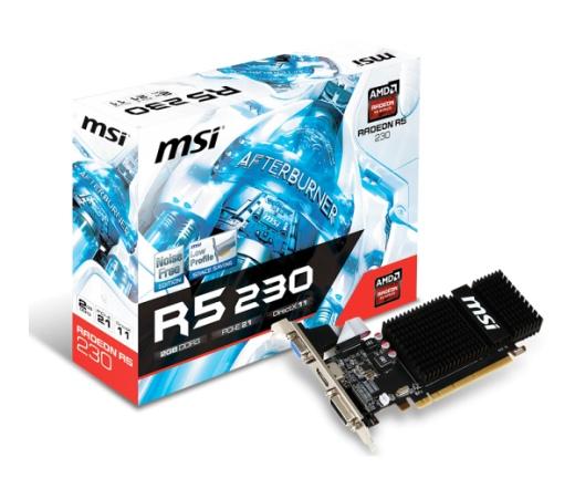 VGA MSI PCIE R5 230 2GD3H/LP