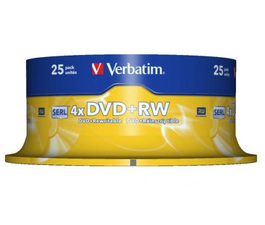 VERBATIM DVD+RW 4,7GB 4X CAKE*25  43489