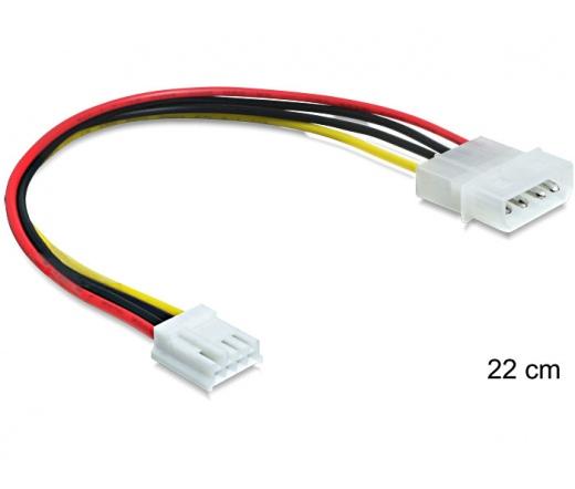 DELOCK Cable Power Molex 4 pin male > 3.5 floppy female