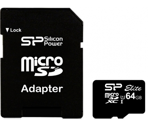 Card MICRO SDXC Silicon Power 64GB UHS-I Elite 1 Adapter (50MB/s | 15MB/s) CL10