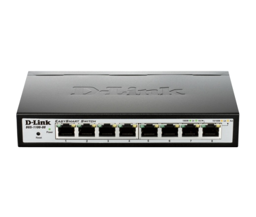 NET D-LINK DGS-1100-08 8-port Gigabit EasySmart switch